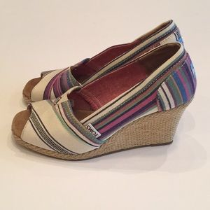 Toms Wedge Espadrille Shoes